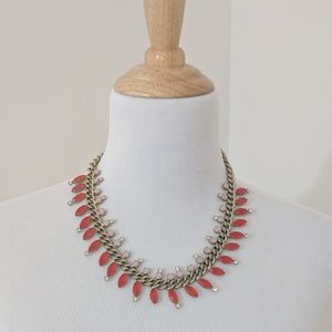 LOFT Jeweled necklace with Gold Chain